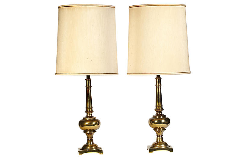 Stiffel brass table lamp connecticut manor vintage styles 1960s stiffel brass table lamps pair aloadofball Images
