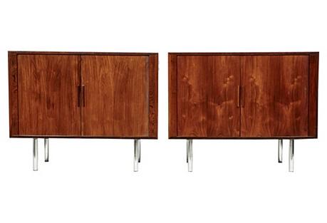 Kai Kristiansen Rosewood Cabinets, Pair