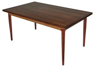 1960s Danish Rosewood Dining Table   Dining Tables   Dining Tables   Dining  Room   Furniture | One Kings Lane