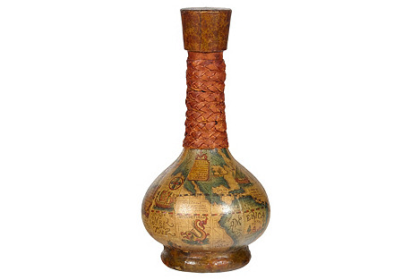 1960s World Map Italian Decanter