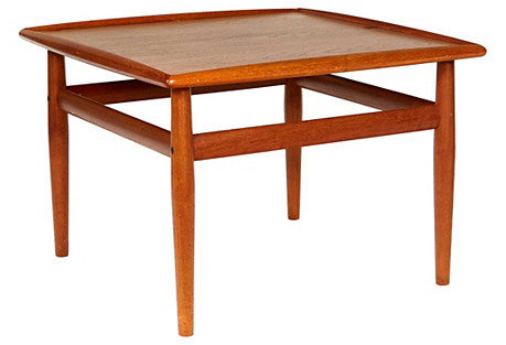 1960s Danish Teak Side Table