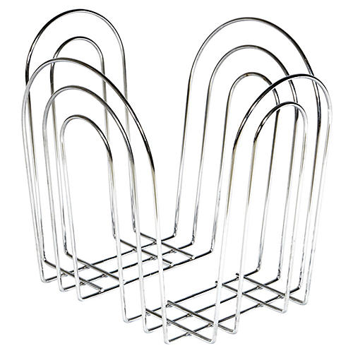 Arch-Style Silver Magazine Holder