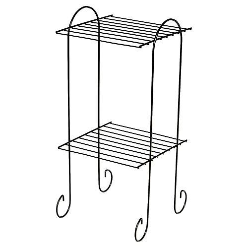 1960s Black Wire Metal Shelf