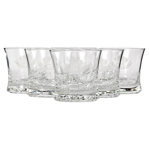 Clear Glass Highball Tumblers, S/6