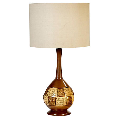 1960s Mosaic-Style Table Lamp