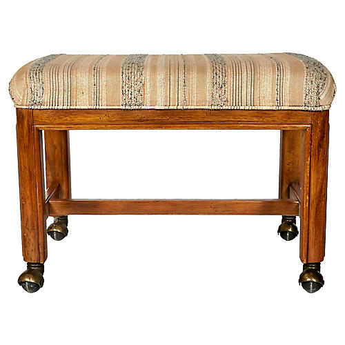 Drexel Rolling Foot Stool