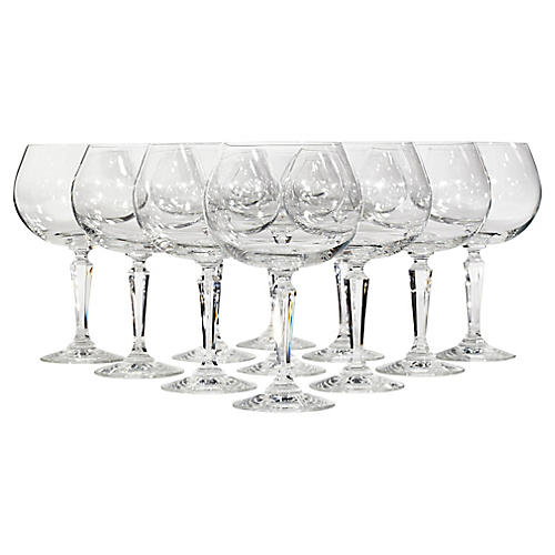 Lenox Glass Goblets, S/11