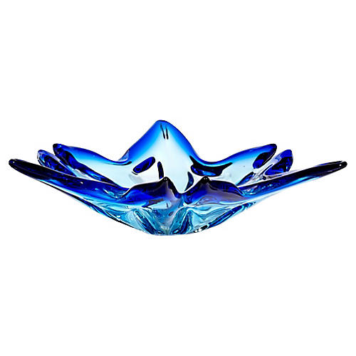 1960s Blue Murano Glass Catchall