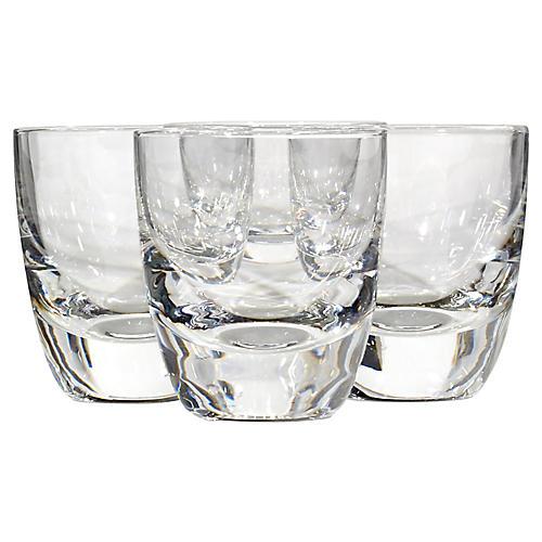 1960s Clear Shot Glasses, S/4