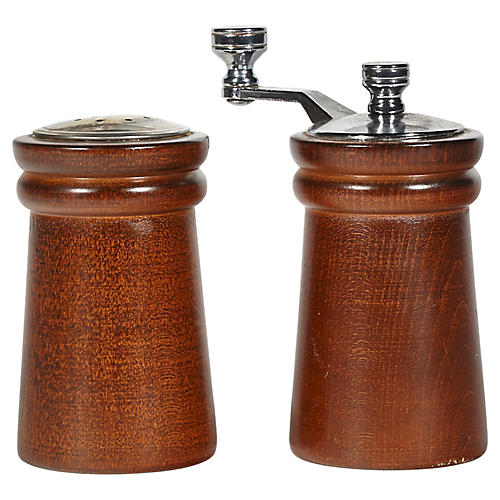 Wood Salt & Pepper Grinder, Pair