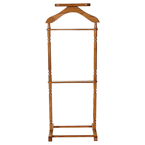 1970s Wood Men's Valet Stand