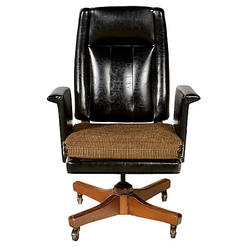 1960s High-Back Desk Chair by Boling