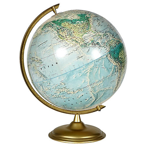 1960s World Portrait Globe