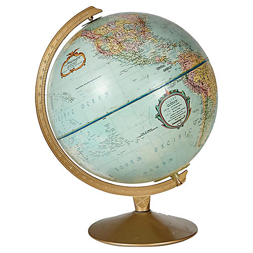 1970s Lighted World Globe