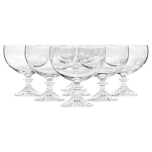 1960s Low Champagne Glass Coupes, S/7