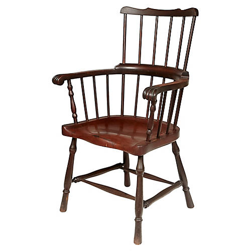 Early 1900s High-Back Windsor Chair