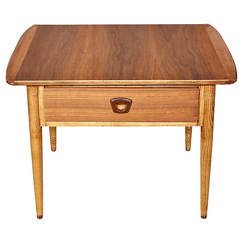 1960s Walnut Lane Furniture Side Table