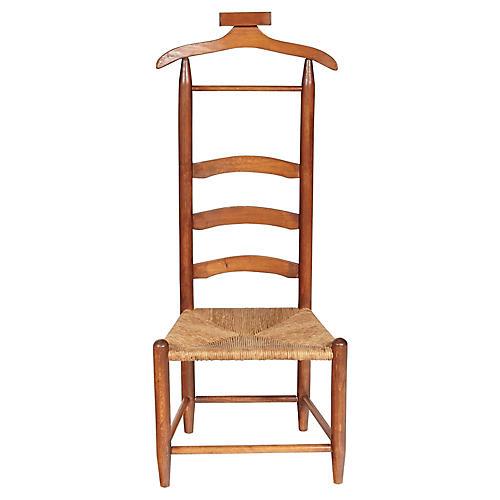 Men's Rush Seat Bedroom Valet