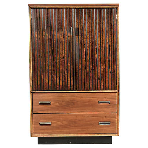 Bassett Furniture Walnut Tall Dresser