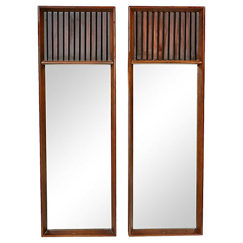 Lane Furniture Walnut & Rosewood Mirrors