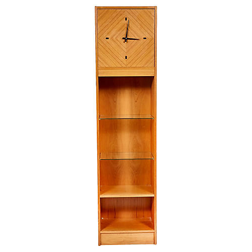 Scandinavian Teak Grandfather Clock