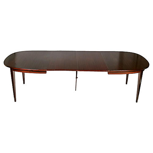 Mahogany Dining Table by Gunni Omann