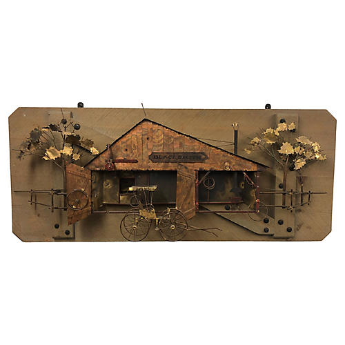 Curtis Jere Blacksmith Wall Sculpture