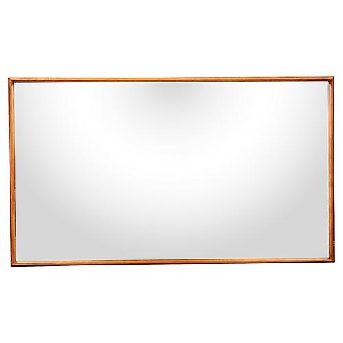 1950s Walnut Wall Mirror