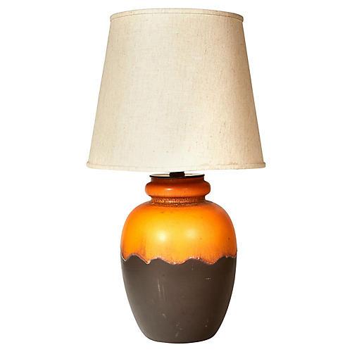 Italian Raymor Volcanic Ceramic Lamp