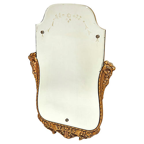 Giltwood Floral Wall Mirror