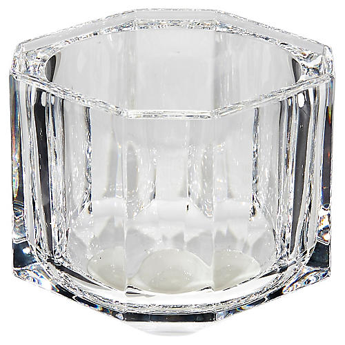 1960s Italian Crystal Square Catchall