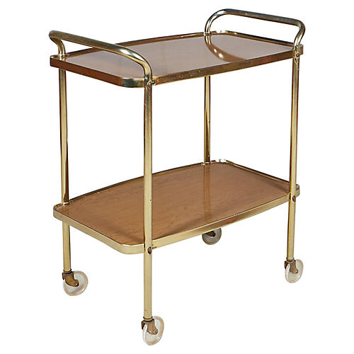 1960s Laminated Serving Cart