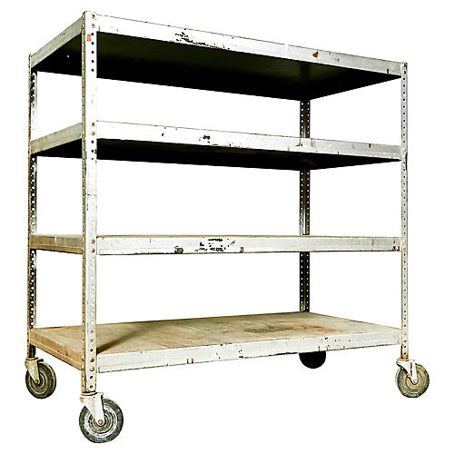 Industrial Metal Rolling Shelving Cart