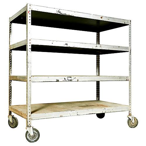 Industrial Metal Rolling Shelving Cart