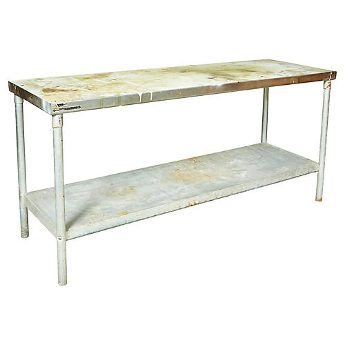Industrial Metal Rectangular Table