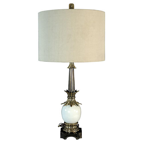 Stiffel Brass & Ceramic Table Lamp