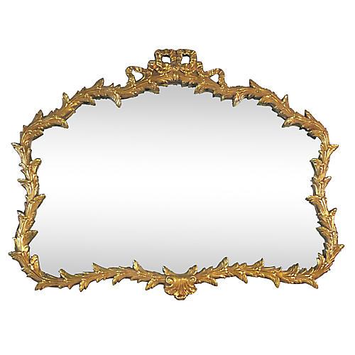 Hollywood Regency Gilt Wall Mirror