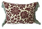 Pillow w/ 19th-C.    French Cotton