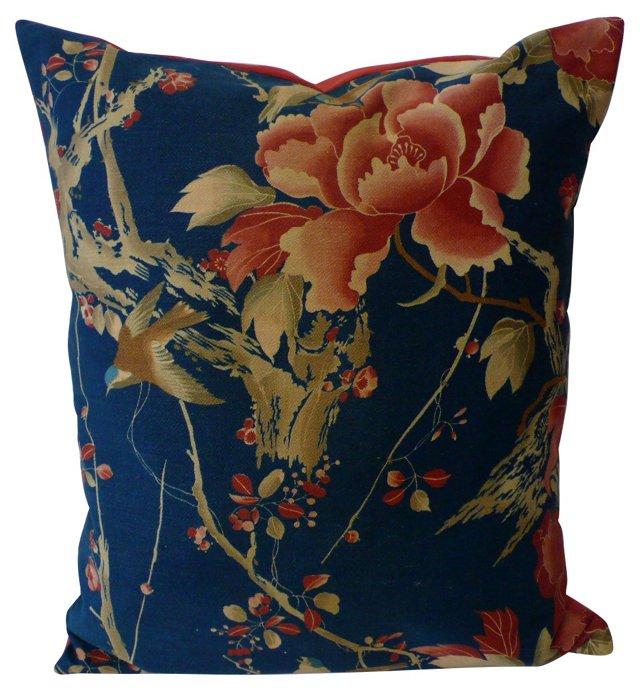 Blue    Floral Pillow