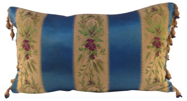 Pillow w/ 19th-C. French Brocade
