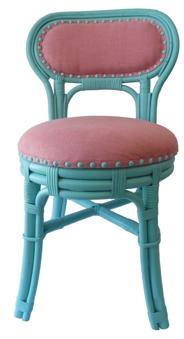 Aqua Rattan Chair