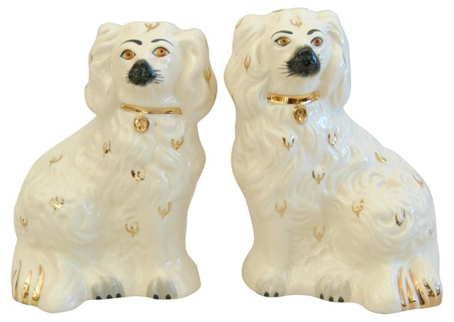 English Royal Doulton Spaniels, Pair