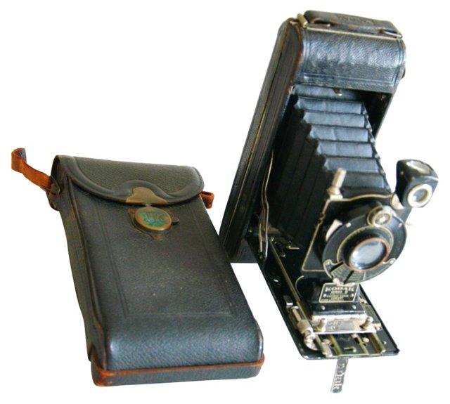 Kodak Diomatic Folding Camera & Case