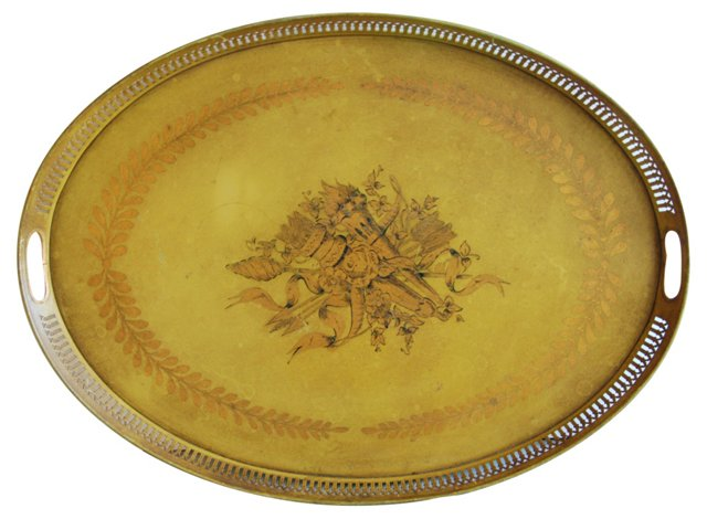 1950s French Tole Tray