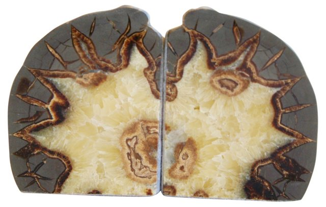 Crystal Septarian Dragonstone Bookends