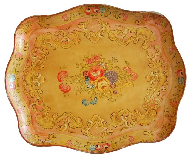 1950s Florentine Serving Tray