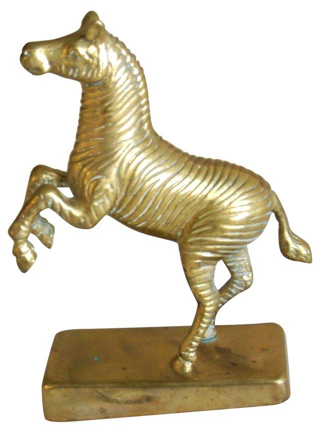 1950s African Brass Zebra