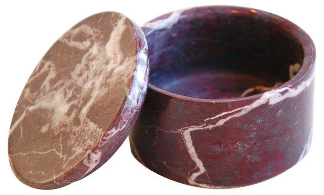 Italian Round Marble Keepsake Box