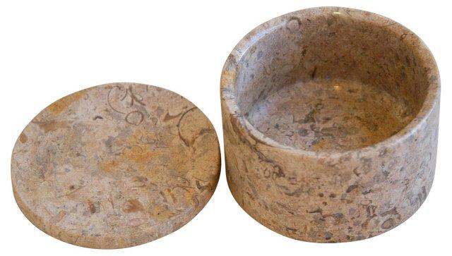 Fossilized Limestone Trinket Box