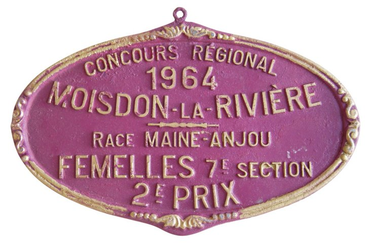 French Award     Plaque